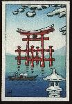 Snow at Miyajima (Mini Postcard)